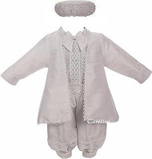 CAROLINE 339 WITHE BAPTISM CHRISTENING 服饰和Bonnet婚礼套装
