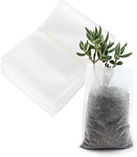 100 件可生物降解护理袋,种植袋,7.87 x 13.77 英寸(约 19.1 x 34.9 厘米)透气非编织植物生长袋,织物播种盆,植物袋容器,适用于蔬菜、花卉、植物种植