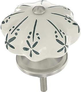 Franklin Brass P41749S-DT-C 星爆甜瓜厨房或家具五金旋钮,1-3/4 英寸(约 3.4 厘米),深青色陶瓷,4 件装