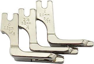 DREAMSTITCH 120803 1/8、3/32、3/16 英寸高柄 Hemmer 压脚卷边脚 适用于歌手 1300、191D、195K、196K、20UX143 等缝纫机 120803 套装