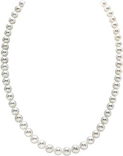 珍珠球 14K 黄金 6.5-7.0mm AAAA 品质白色淡水养殖珍珠项链适合女士公主长度 43.18 cm