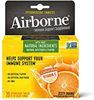 Schiff 旭福 Airborne 维生素C 1000毫克/次 橙味泡腾片 不含麸质 补充剂 富含抗氧化剂