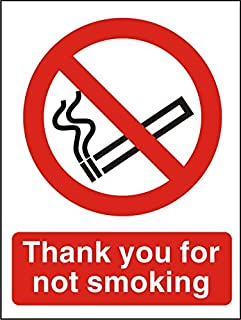 Seco Thank You For Not Smoking 字样,A5(148mm x 210mm) - 自粘乙烯基