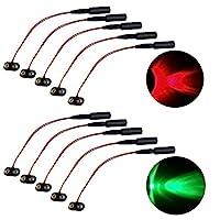 5 个红色和 5 个*微效果灯适用于圣诞道具戏剧服装 9 伏 LED 射灯