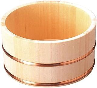 雅马柯 洗脸盆 水桶(铜头盖/圆形) 自然色 22.5×22.5×11.5cm -