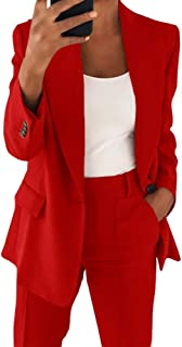 Cicy Bell 女式休闲外套长袖前开襟工作办公室夹克带口袋