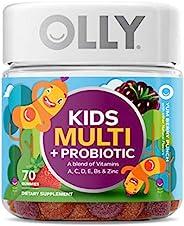 OLLY 儿童多种*软糖,35天用量(70粒),Yum Berry Punch,维生素A,C,D,E,B,锌,*咀嚼补充剂