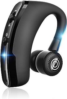 TDYY 蓝牙耳机耳挂耳机降噪入耳式耳机带麦克风,适用于商务办公室驾驶,兼容 iPhone 三星安卓