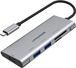 Upgrow USB C 至 HDMI 集线器,UPGROW C 型适配器 5 合 1 带 2 个 USB 3.0 端口,4K@30Hz HDMI,SD/TF 读卡器,USB 分配器适用于 MacBook Pro/Air,ChromeBook,...