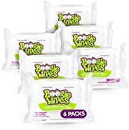 Boogie 无香型婴儿湿巾 面部、手部、身体和鼻子湿巾 使用维生素 E、芦荟、洋甘菊和天然盐水制成 30 片 6 件装