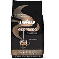 Lavazza 意式浓咖啡全豆咖啡混合,中度烘烤,2.2磅,1000克,袋装(包装可能有所不同)