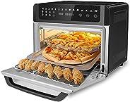 Gevi Air Fryer 烤面包机烤箱组合,大型数字 LED 屏幕对流烤箱,带烤架和脱水器