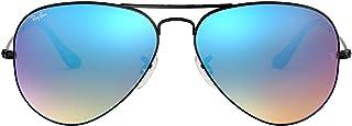 Ray-Ban 3025 飞行员大金属镜面非偏光太阳镜 亮黑色 58 mm