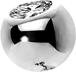 OUFER 14K 纯金Clea CZ 替换球外螺纹用于肚脐环