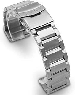 Solid Link 不锈钢表带 – 银色金属手表手链表带