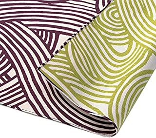 Furoshiki 传统日式面料包裹 - * 棉,日本制造,Honjien 双面伊莎·蒙约经典图案 Loops Purple/Green 080-TF-20478-315