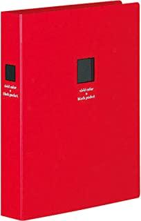 KOKUYO(国誉)文件夹式相册 黑底纸 A5 宽型 L尺寸 160张 黄色 a-NP911NY parent 红色