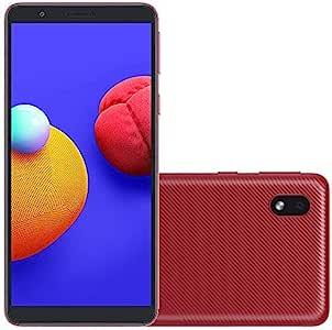 三星 Galaxy A01 Core (16GB) 5.3 英寸,3000 mAh 电池,Android 10,双 SIM GSM 解锁全球 4G LTE(T-Mobile、AT&T、Metro、Straight Talk)国际型号 A013M/DS(64GB SD 包,红色)