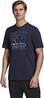 adidas 阿迪达斯男式复古媒体标志 T 恤