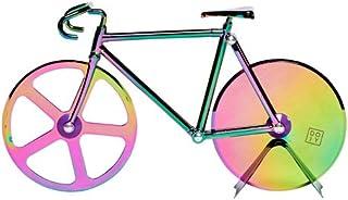 Doiy Fixie 自行车披萨切割机自行车不锈钢 彩虹色 7 x 3.75 Inches
