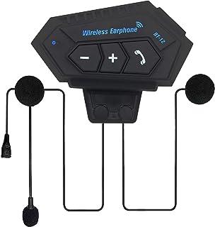 蓝牙摩托车耳机带麦克风防水运动头盔耳机音乐呼叫控制耳机
