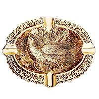 Fama 青铜烟灰缸野鸡,经典烟灰缸,装饰家居配件