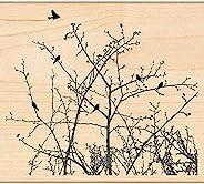 Penny 黑色安裝橡膠印章 4 x 4.5 英寸,冬天里