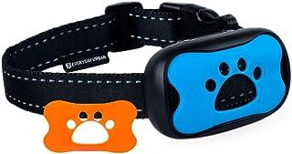 狗用项圈 - 赶快停止狗狗狂欢! Safe Anti Barking Devices 训练控制项圈,小号、中号和大号宠物可威慑。 防震远程柑橘。 声音振动训练设备