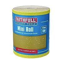 Faithfull 115 毫米黄色氧化铝纸卷范围 多色 10m length 40g FAIAR1040Y