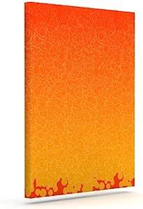 "Kess InHouse Frederic Levy-Hadida""泡红色""户外帆布墙画 16"" x 20"" 红色 FH1005AAC03"