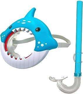 Regent Products 鲨鱼游泳面具和*管套装 - 儿童游泳面罩和喷嘴 - 2 件套