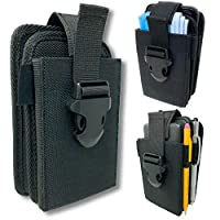 雙口袋手機皮套。 尼龍結構,可調節快速釋放搭扣。 可攜帶兩個手機、面罩、記事本、便攜式充電器、絕緣泵、筆燈、多用途刀或實用刀。