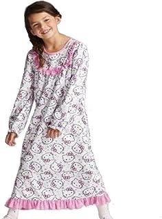 Hello Kitty 女童法兰绒睡袍,白色,尺码 4/5,6/6X 和 7/8