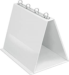 VELOFLEX 4101090 桌面折叠文件夹 A4 演示本 活动挂图 文件夹 PVC 横向格式 白色 1 件