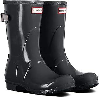 HUNTER 女式原创短背可调节光泽雨靴