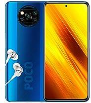 POCO X3 NFC - 智能手机 6 + 128GB,6.6 英寸 FHD + 打孔显示屏 Snapdragon 732G 64MP AI Penta-Camera 5160mAh,钴蓝色(英国官方版)