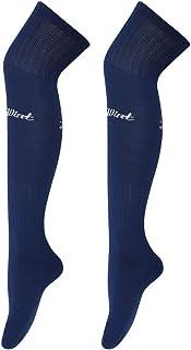 Luwint 成人长足球袜 - 超垫厚棉条纹男女足球袜(15 种颜色可选)