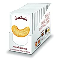 Classic Cashew Butter Squeeze Packs by Justin's, Only Two Ingredients, Gluten-free, Non-GMO, Responsibly Sourced, 1.15 Oz, Pack of 10