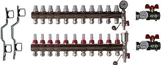 Dismy 11 端口歧管镀铬黄铜用于地暖