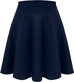 女式中长款喇叭弹力裙,适合女士和加大码。休闲 A 字,基本日常穿着,正式办公室