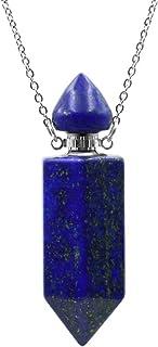 天然青金石 Lazuli *石精油扩散器 香水瓶 吊坠 水晶项链 六角小瓶 ( apis Lazuli)