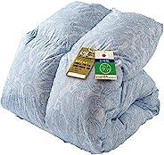 Iris Plaza 羽绒被 白鸭绒/白鹅绒 日本制造 共6种颜色 ペイズリーブルー シングルロング 14
