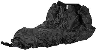 Qiilu 皮艇喷雾裙,通用可调节尼龙皮艇喷雾裙防水罩水上运动配件黑色