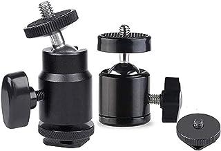 Millie 热靴安装适配器 - 1/4 相机热靴安装带附加 1/4 英寸螺丝适用于摄像机、智能手机、Gopro、LED 视频灯、麦克风、视频监视器、三脚架-黑色(2 件装)