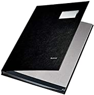 Leitz 57010095签名文件夹 , 10格 , 镀层 PP , 黑色