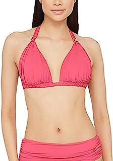 LAUREN RALPH LAUREN 拉夫·劳伦女式沙滩俱乐部纯色模压杯滑块吊带比基尼上衣