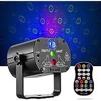 Disco Lights RGB LED 2 合 1 舞台光束灯 声控 DJ 派对灯 闪光效果 正时 LED 舞台灯投影仪 带遥控 适用于家庭生日舞蹈派对
