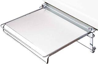 YOSHIKAWA 毛巾架 & 辅助收纳桌 银色 折叠收纳 日本制造 1304583
