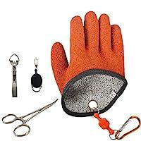 Riverrun 防水防穿刺钓鱼手套渔夫专业捕鱼手套耐切割防穿刺手套