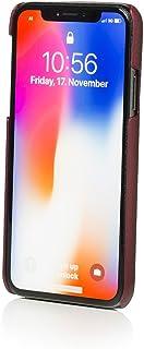 Mike Galeli iPhone XS / X (10s, Ten S) [LENNY] 后盖 [PLUM] 苹果 iPhone 高级皮革时尚保护套
